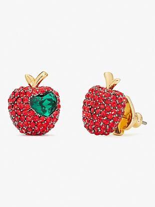 dashing beauty pavé apple studs