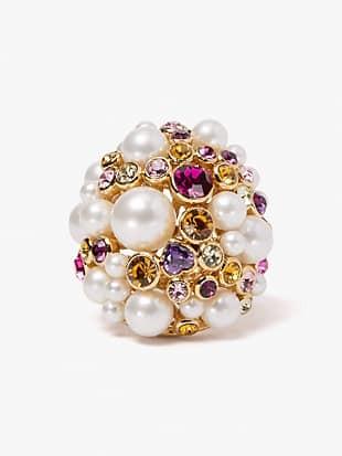 pearl caviar statement ring