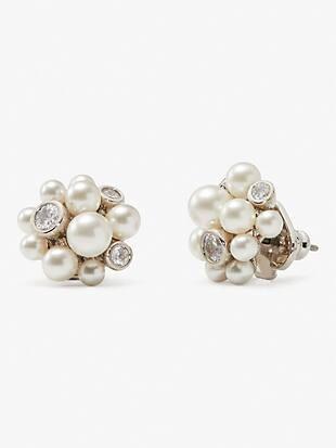 pearl caviar cluster studs