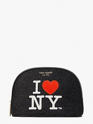 i heart ny x kate spade new york large dome cosmetic case