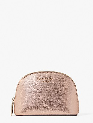 spencer metallic small dome cosmetic case