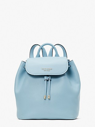 sinch pebbled leather medium flap backpack