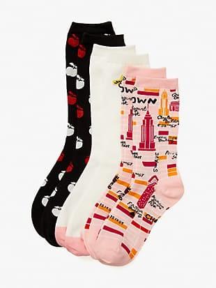 nyc 3-pack crew socks
