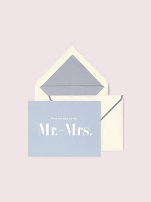 """mr. & mrs."" thank you card set"