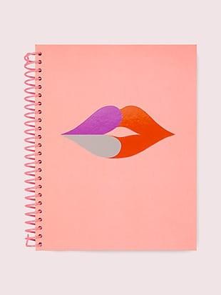 heart lips spiral notebook