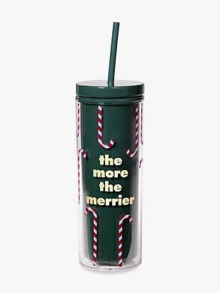the more the merrier tumbler with straw