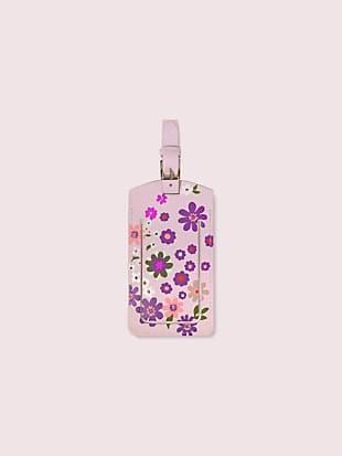 pacific petals luggage tag
