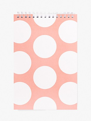 peach jumbo dot small top-spiral notebook