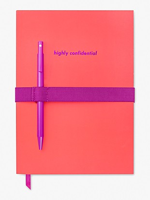 highly confidential notebook with pen