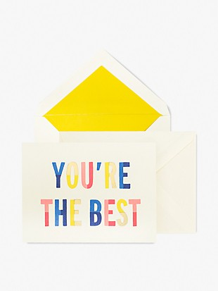 you're the best thank you card set