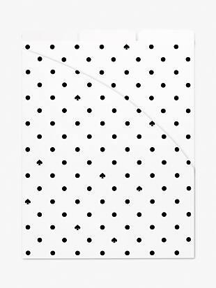 black spade dot vertical file folder set