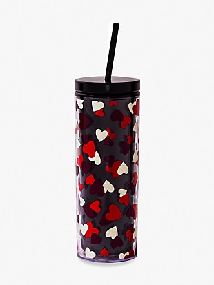 celebration hearts tumbler with straw