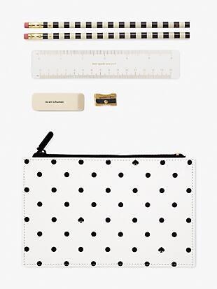 black spade dot pencil pouch