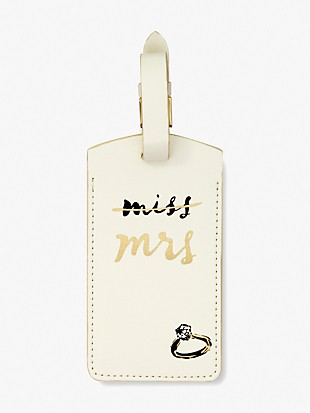 miss to mrs luggage tag