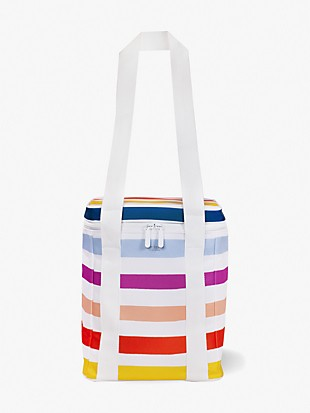 candy stripe wine picnic cooler bag