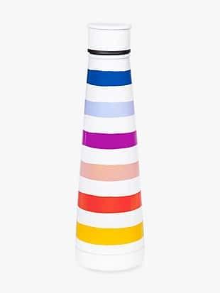 Kate spade candy stripe stainless steel water bottle