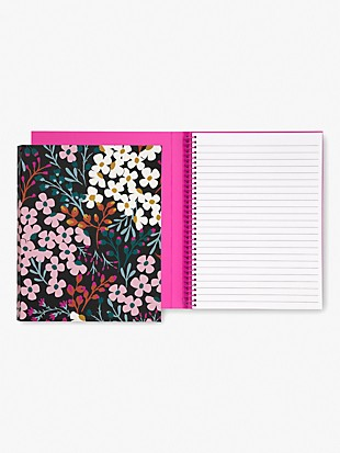 fall floral concealed spiral notebook