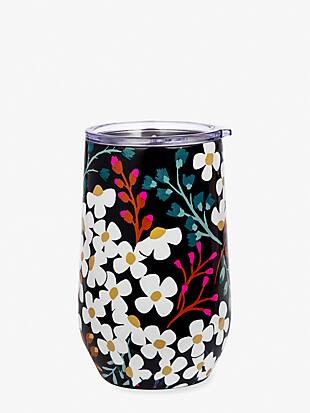 Kate spade fall floral stainless steel wine tumbler
