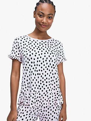 pastry dot short sleeve lounge top