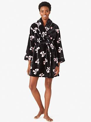 bold bows chenille robe