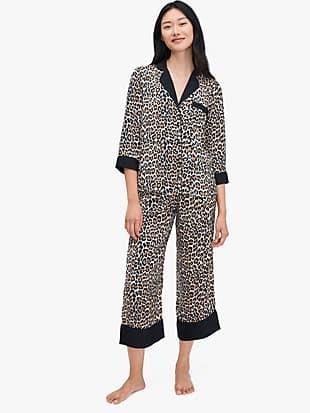 leopard long pj set