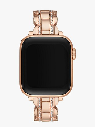 rose gold pavé scallop link band for apple watch®
