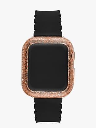 rose gold glitter 38/40mm bumper for apple watch®