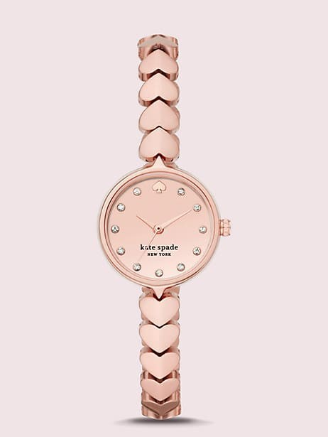 Hollis Rose Gold Tone Stainless Steel Hearts Watch Kate Spade New York
