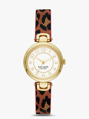 rainey park luggage/leopard-print reversible watch