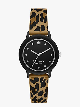 morningside leopard silicone watch