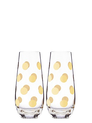 pearl place stemless champagne glass pair
