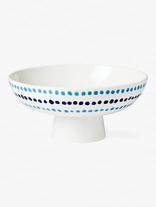 floral way footed serving bowl