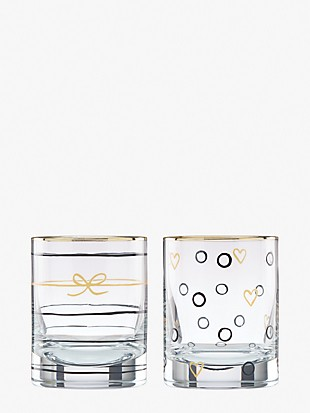 good times doodle away double old fashioned glass set