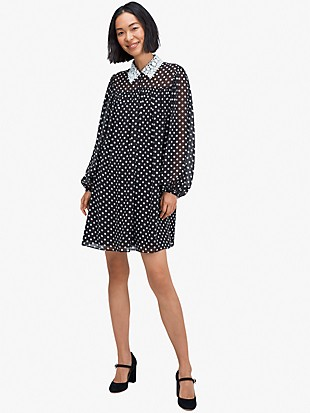 domino dot swing dress