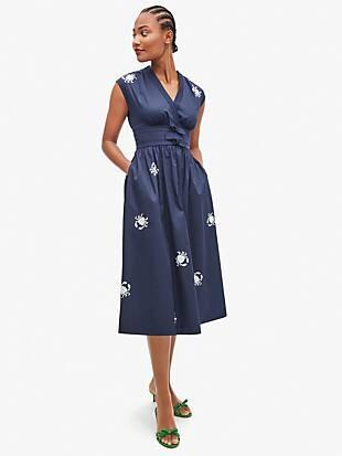 snappy poplin bow dress