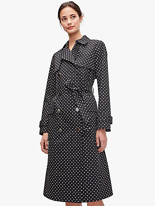 dot trench coat