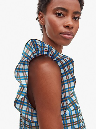 plaid flutter top