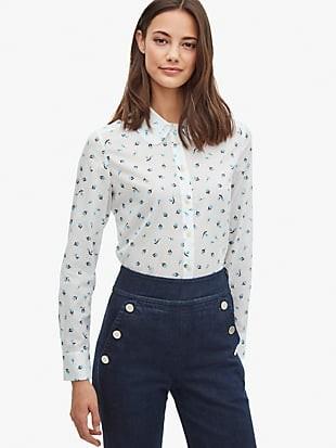 dainty bloom ruffle shirt