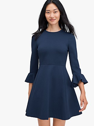bell sleeve ponte dress