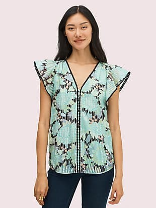dahlia bloom burnout top