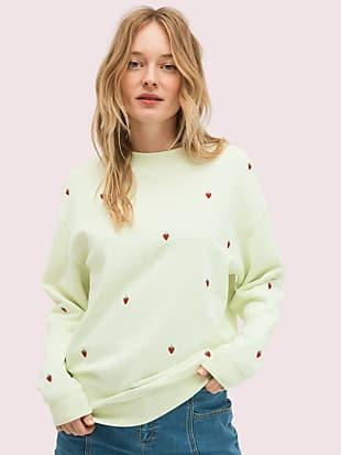 embroidered berry sweatshirt