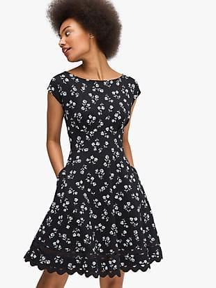dandelion floral ponte dress
