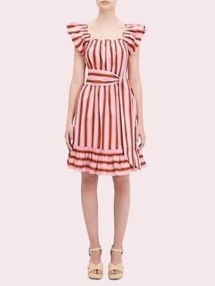 calais stripe flutter dress