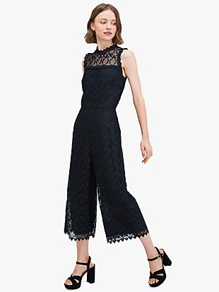 scallop-trim lace jumpsuit