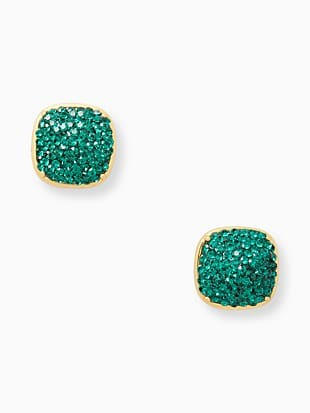 kate spade earrings clay pave small square studs