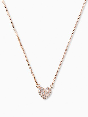yours truly pave heart mini pendant