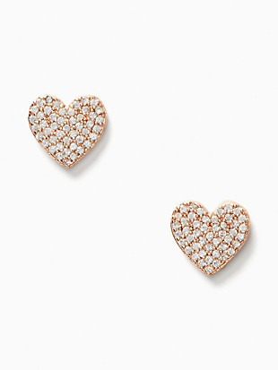 yours truly pave heart studs