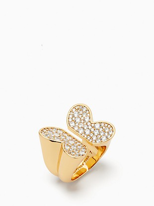 in a flutter pave butterfly ring