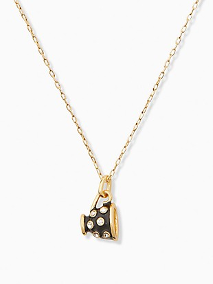 alice in wonderland teacup mini pendant necklace