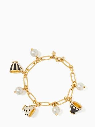 alice in wonderland teacup charm bracelet